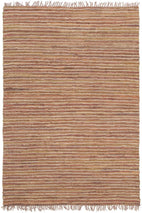 Atrium-Bondi Leather and Jute Rug Brown-RUG HOME
