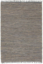 Atrium-Bondi Leather and Jute Rug Grey-RUG HOME