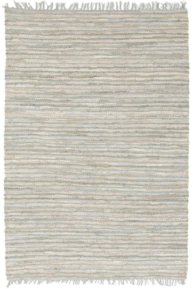 Atrium-Bondi Leather and Jute Rug Sky Blue-RUG HOME