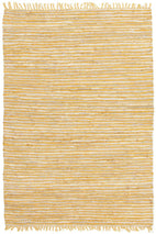 Atrium-Bondi Leather and Jute Rug Yellow-RUG HOME