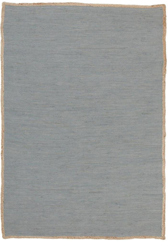Atrium-Reno Cotton and Jute Rug Blue-RUG HOME