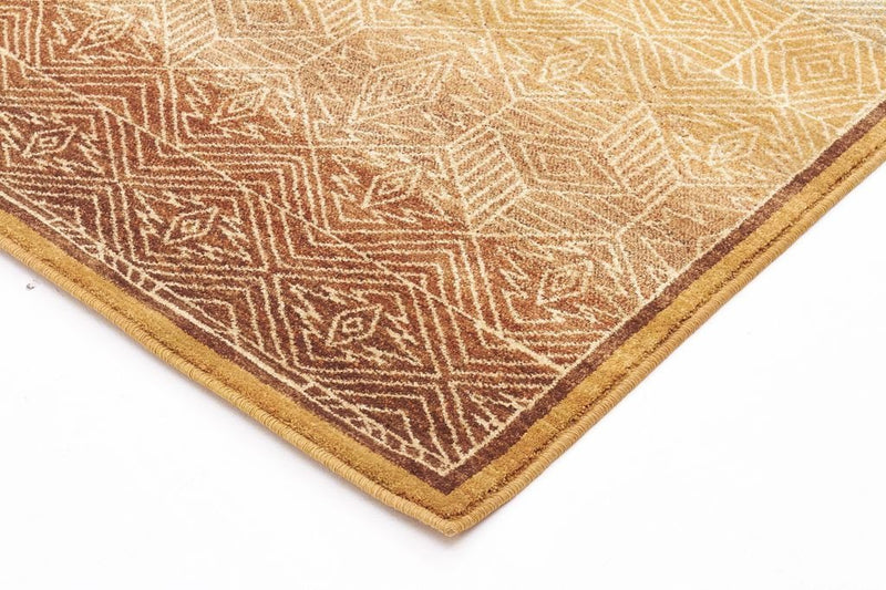 Byblos Modern-Tribal Design Rug Gold-RUG HOME
