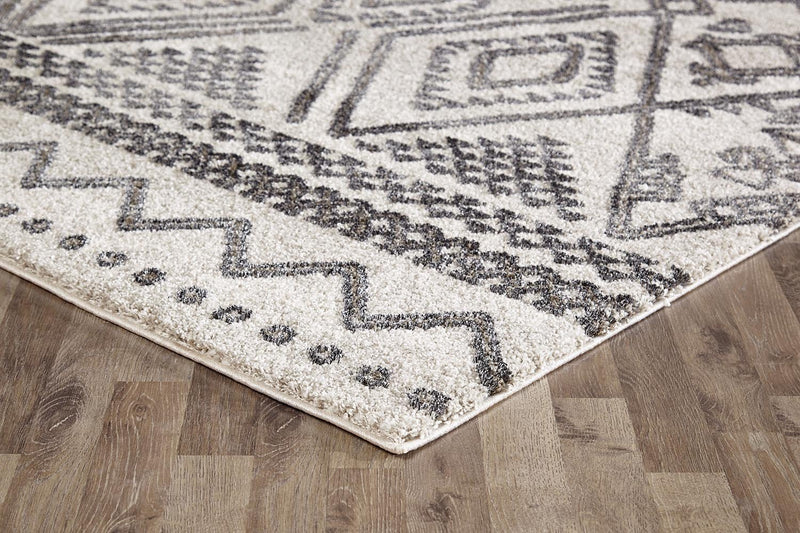 Capri-Lara Tribal Natural and Grey Rug-RUG HOME