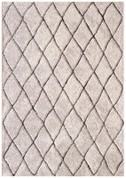 Capri-Zuri Morrocan Diamand Rug Natural Brown-RUG HOME
