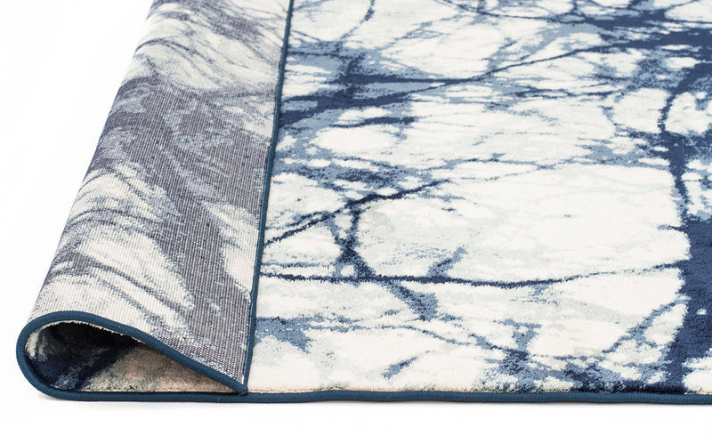 Chelsea-Claire Modern Rug Blue Cream-RUG HOME