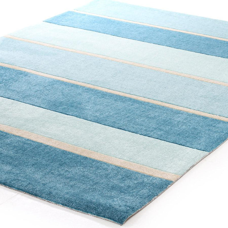 City-Modern Blue Bands Rug-RUG HOME