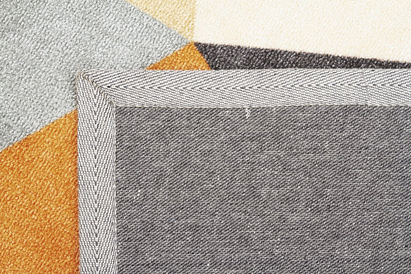 City-Modern Pixels Rug Rust Grey Blue-RUG HOME