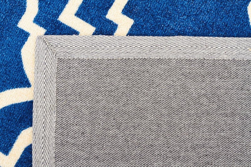 City-Modern Trelliss design Rug Navy-RUG HOME