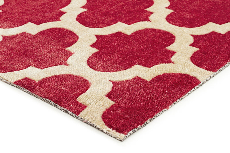 City-Trellis Stylish Design Rug Red-RUG HOME