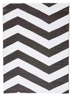 Coastal-Coastal Indoor Out door Rug Chevron Black White-RUG HOME