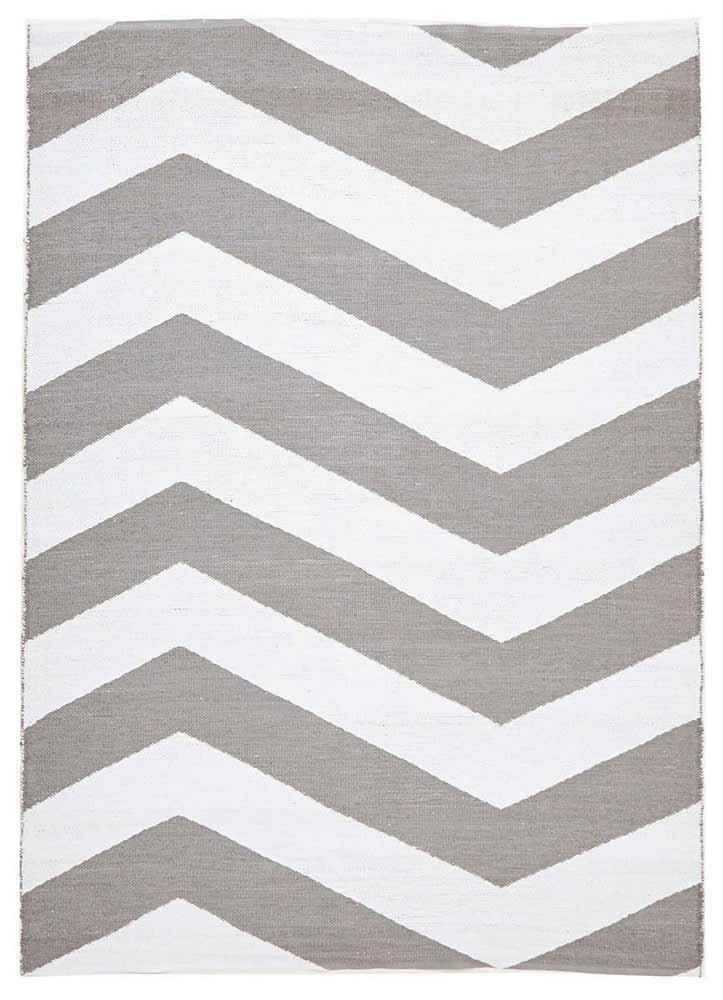 Coastal-Coastal Indoor Out door Rug Chevron Grey White-RUG HOME