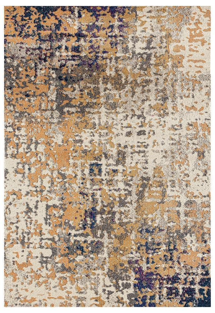 Crystal-Sonia Contemporary Rug Rust Navy-RUG HOME