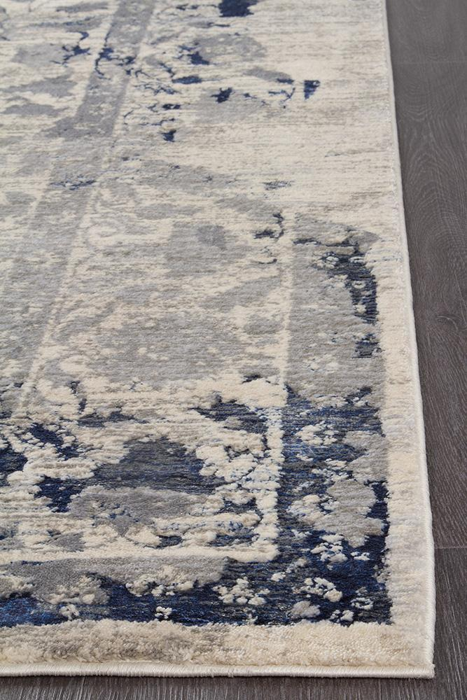 Drift-Drift Tabriz Transitional Modern Rug White Navy Grey-RUG HOME