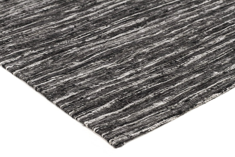 Escape-Eliza Stunning Flat Woven Rug Charcoal-RUG HOME