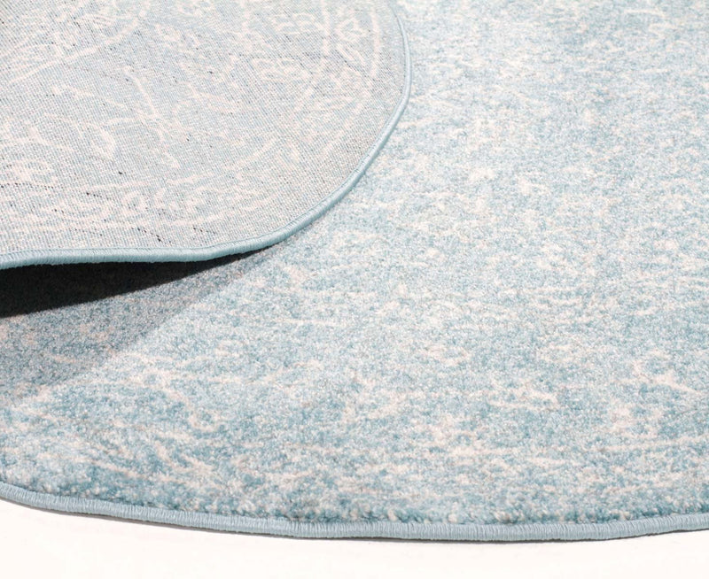 Evo-Depth Blue Transitional Round Rug-RUG HOME
