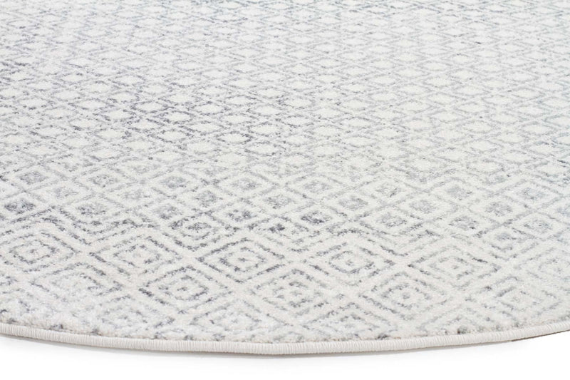 Evo-Diamond Grey Transitional Round Rug-RUG HOME