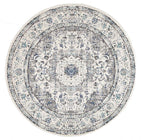 Evo-Mist White Transitional Round Rug-RUG HOME