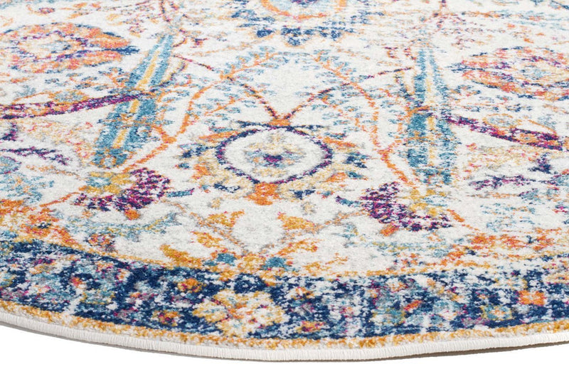 Evo-Peacock Ivory Transitional Round Rug-RUG HOME