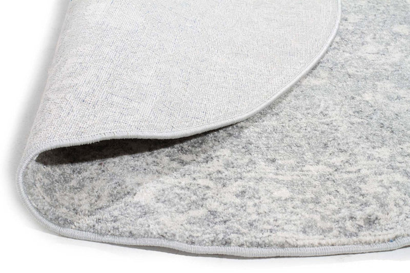 Evo-Shine Silver Transitional Round Rug-RUG HOME