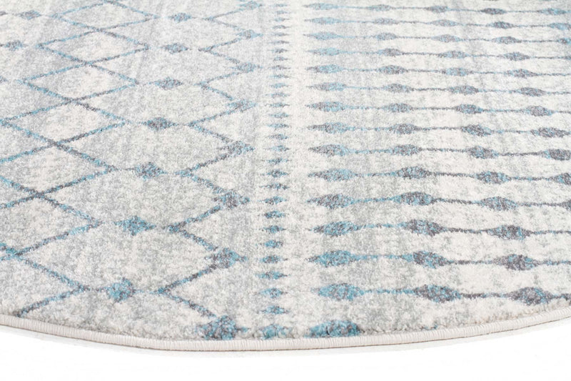 Evo-Slate White Transitional Round Rug-RUG HOME