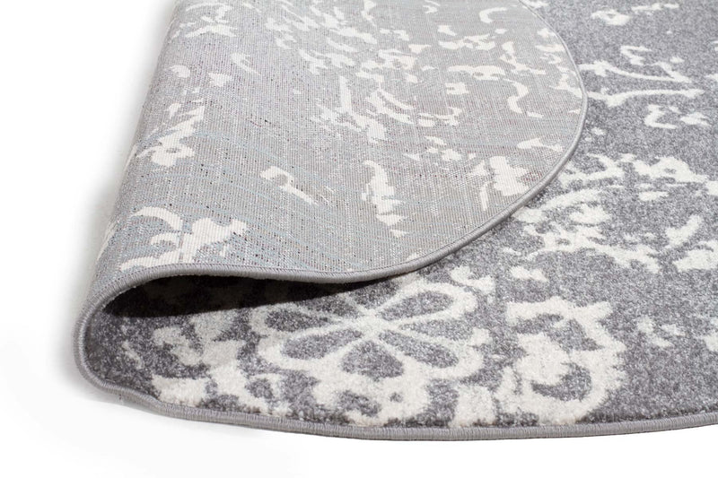 Evo-Stream Grey Transitional Round Rug-RUG HOME
