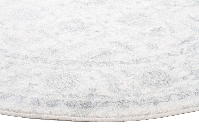 Evo-Winter White Transitional Round Rug-RUG HOME
