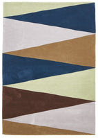 Gold-Cascade Modern Rug Blue Green Brown-RUG HOME