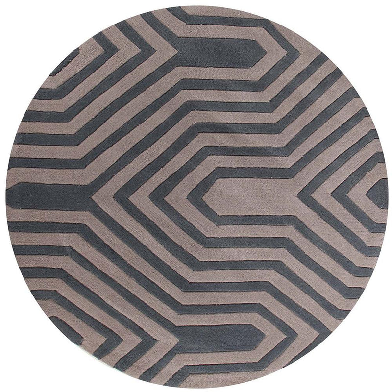 Gold-Circuit Board Taupe Rug-RUG HOME