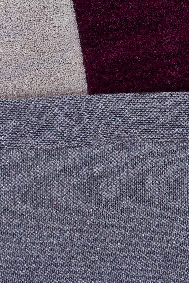 Gold-Eclipse Modern Rug Aubergine Grey-RUG HOME