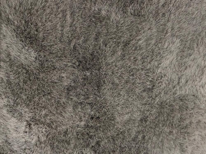 Gun Metal Pony Ultra Soft Faux Fur Luxurious Modern Rug Floor Mat