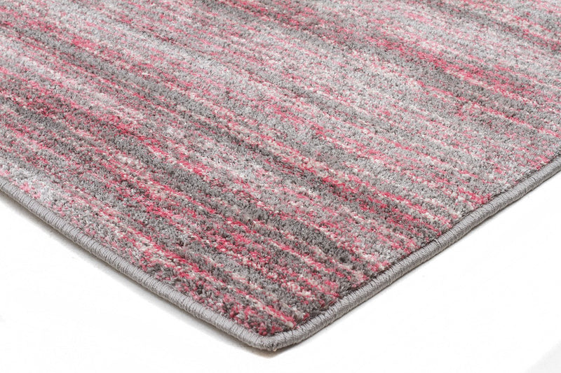 Harmony-Pandora Contemporary Stripe Rug Pink Grey-RUG HOME