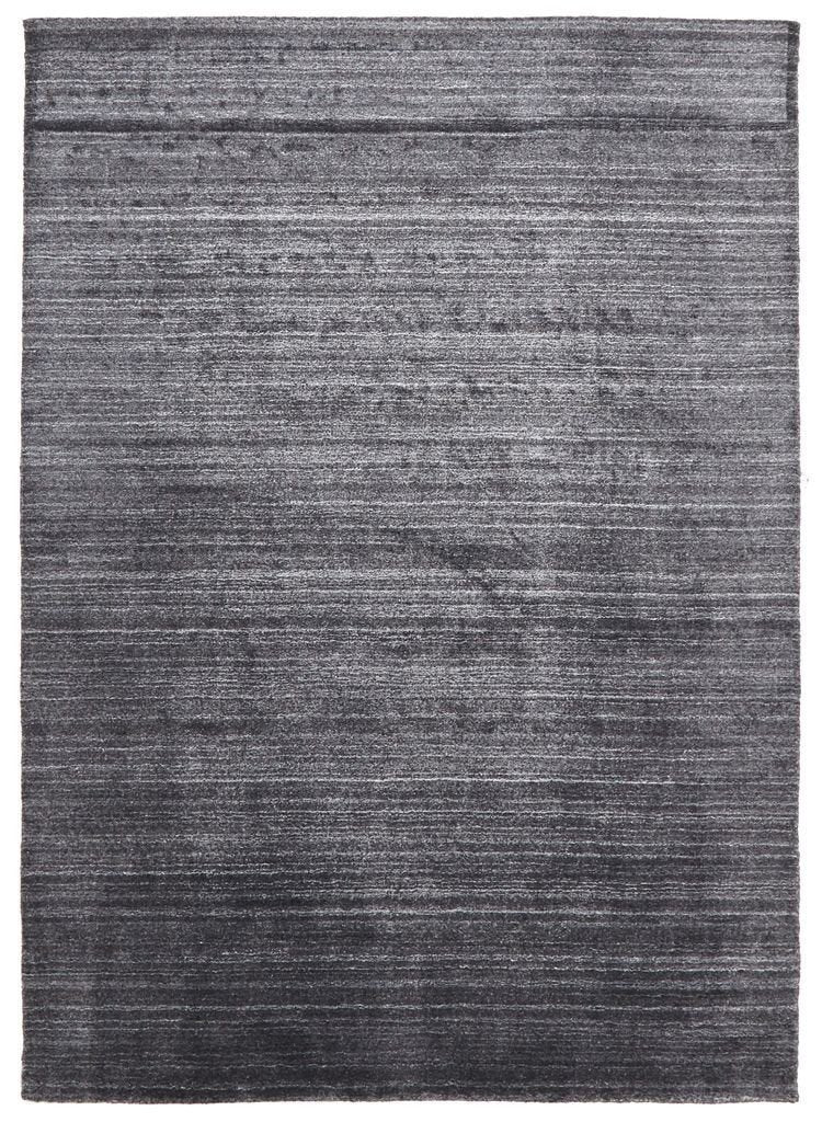 Havana-Havana Luxury Hand Knotted Rug Natural Fibres Charcoal-RUG HOME