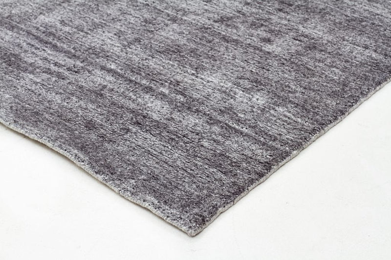 Havana-Havana Luxury Hand Knotted Rug Natural Fibres Dark Grey-RUG HOME