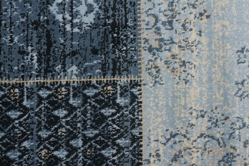 Heirloom-Neo Patchwork Designer Rug Blue-RUG HOME