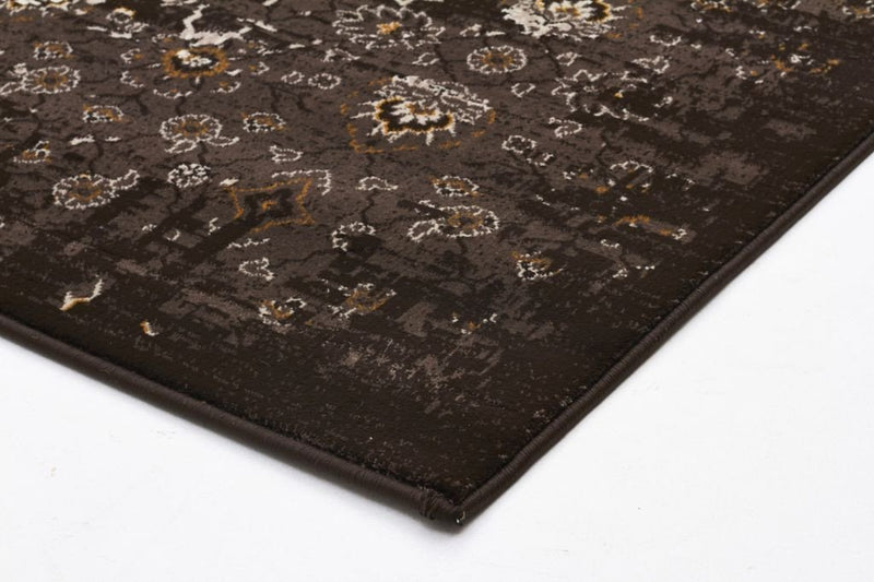 Heirloom-Royal Kashan Designer Rug Chocolate Brown-RUG HOME