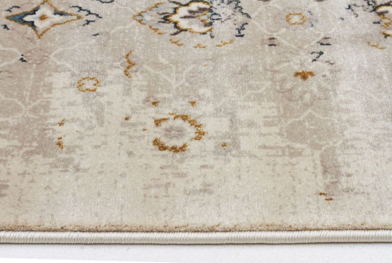 Heirloom-Royal Kashan Designer Rug Ivory Beige-RUG HOME