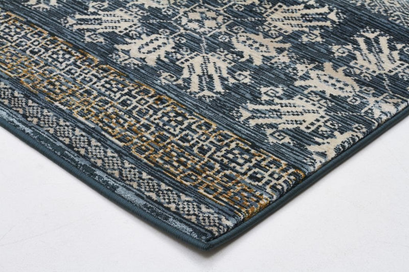 Heirloom-Urban Tribe Designer Rug Blue-RUG HOME