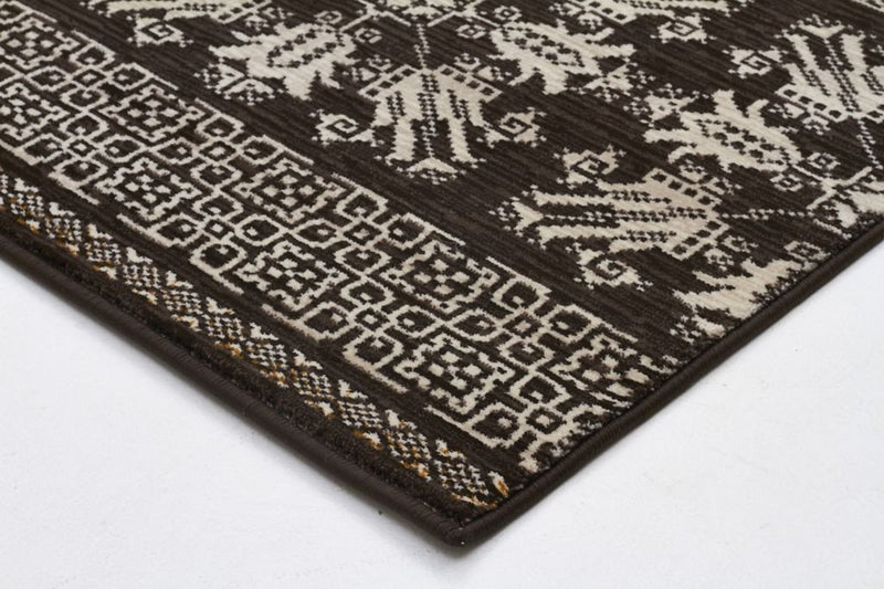 Heirloom-Urban Tribe Designer Rug Brown-RUG HOME
