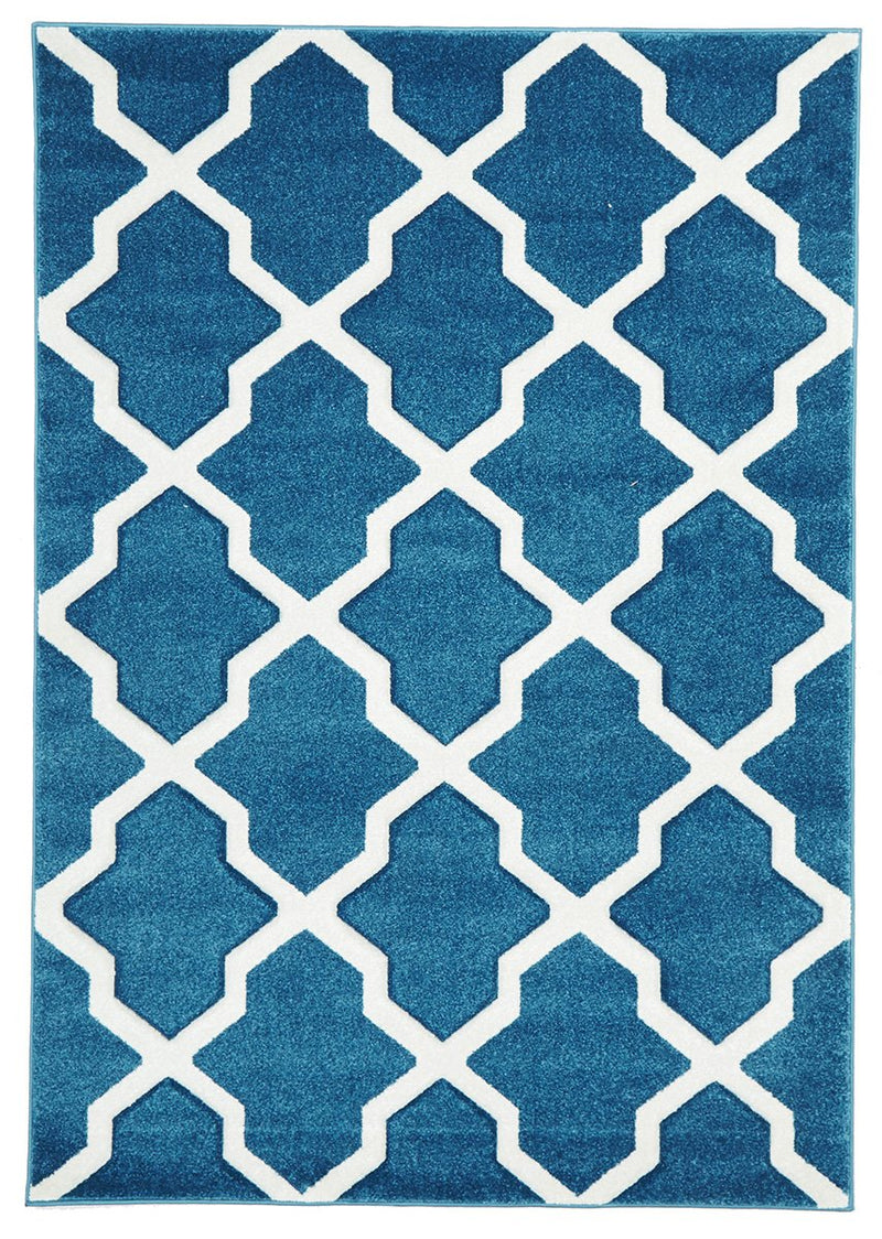 Icon-Cross Hatch Modern Rug Blue-RUG HOME