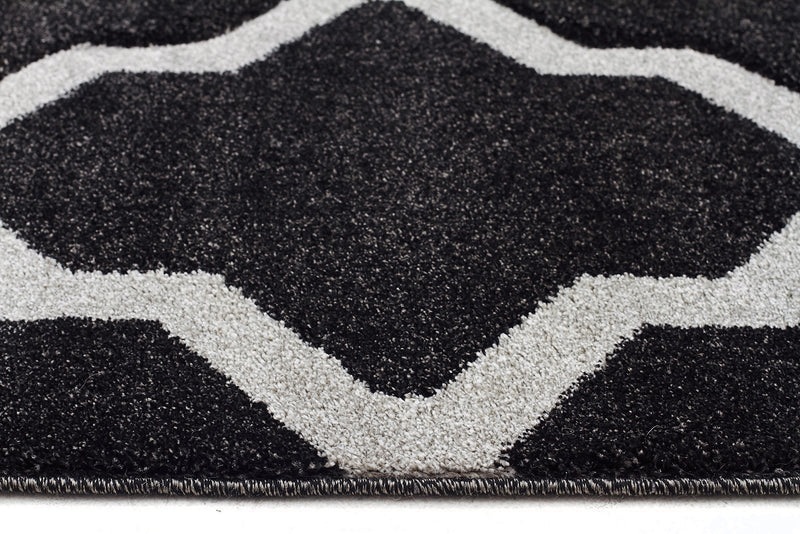 Icon-Cross Hatch Modern Rug Charcoal-RUG HOME