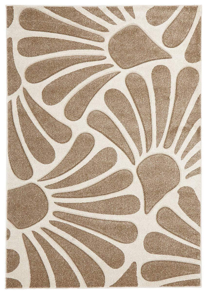 Icon-Damask Modern Fern Rug Natural-RUG HOME