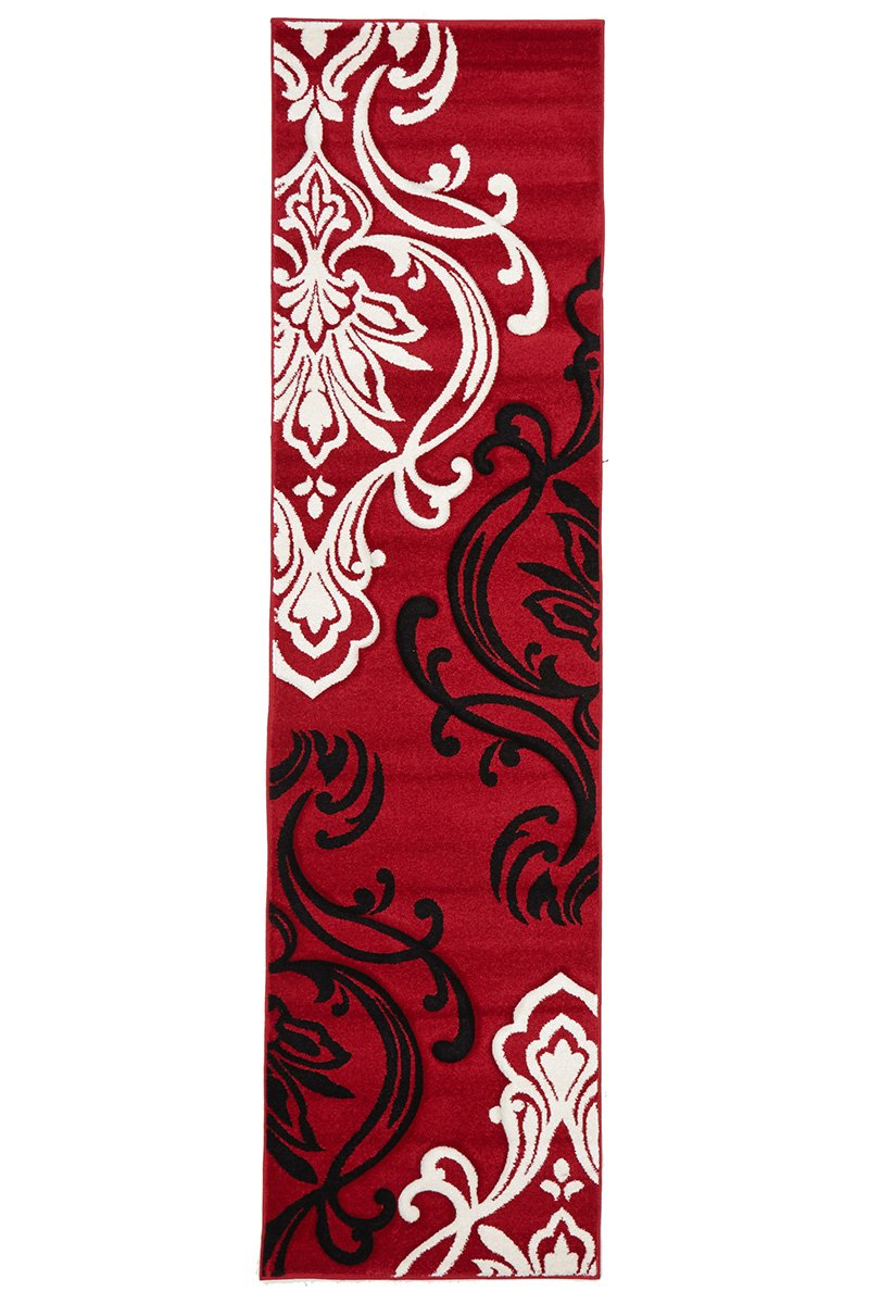 Icon-Stunning Thick Designer Rug Red-RUG HOME