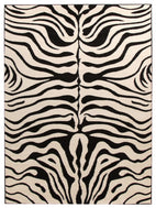 Icon-Stunning Zebra Pattern Rug Black Off White-RUG HOME