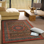 Jewel-Antique Heriz Design Rug Brown Red Blue-RUG HOME