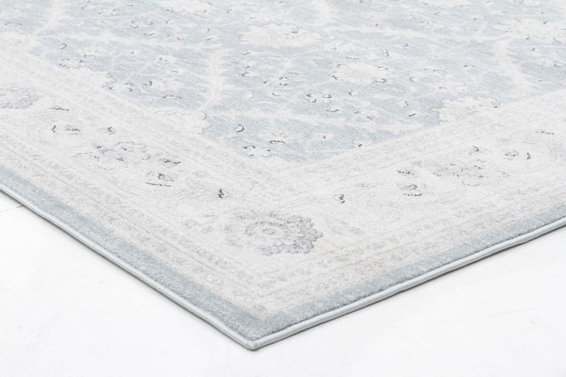 Jewel-Chobi Design Rug Light Blue Bone-RUG HOME