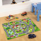 Little Circus-Kids Non Slip Road Map City Rug-RUG HOME
