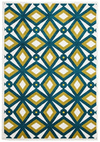 Marque-Indoor Outdoor Nadia Rug Blue Citrus-RUG HOME