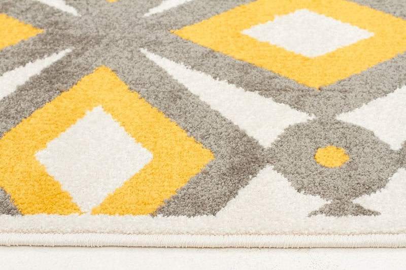Marque-Indoor Outdoor Nadia Rug Grey Yellow-RUG HOME