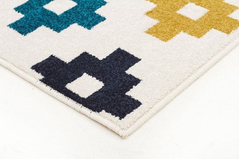 Marque-Indoor Outdoor Pixel Rug Blue Green White-RUG HOME