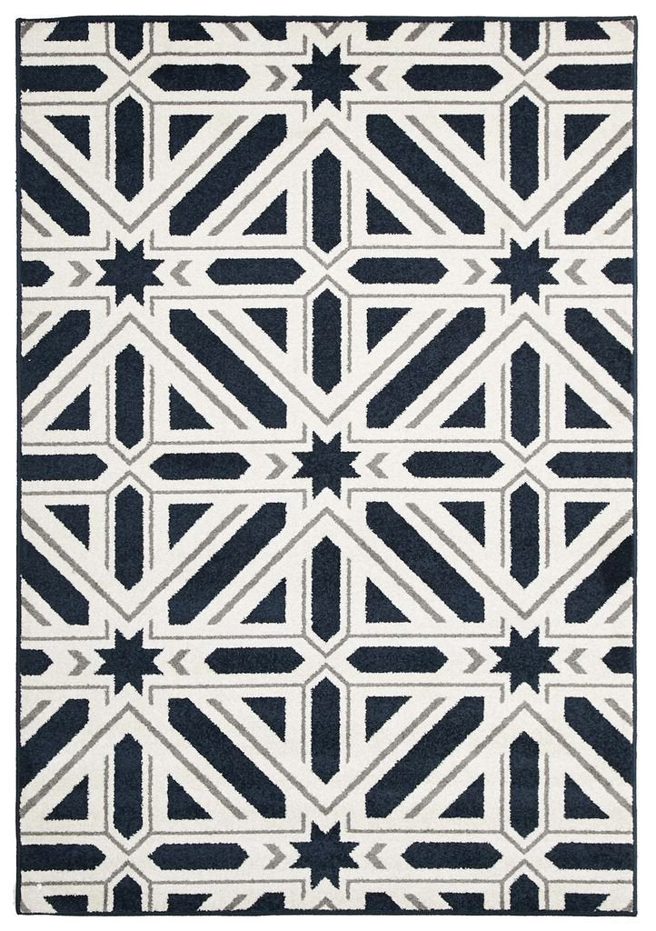 Marque-Indoor Outdoor Xenia Rug Navy-RUG HOME
